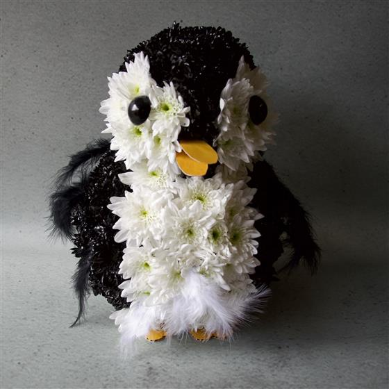 small penguin floral tribute